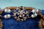 Antique Paste and Pearls Bracelet