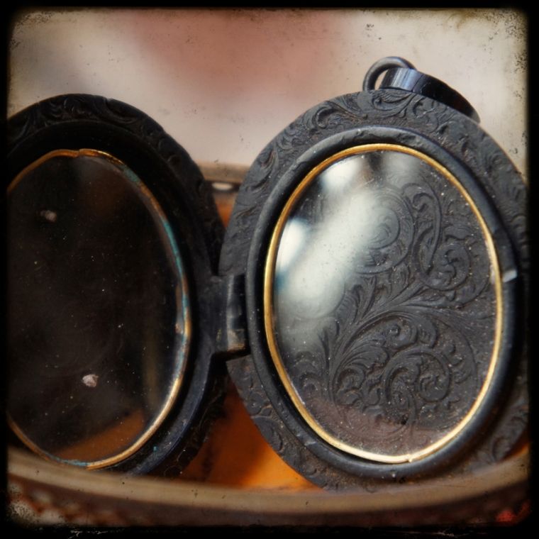 Mourning Locket Inside