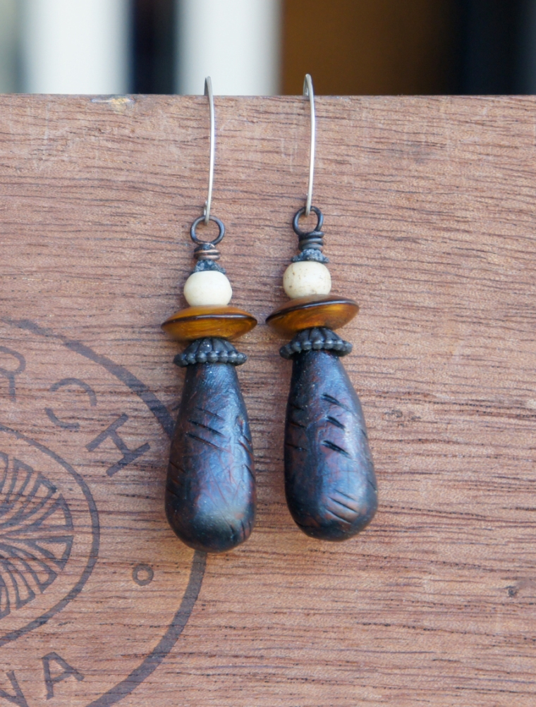Polymer pod earrings
