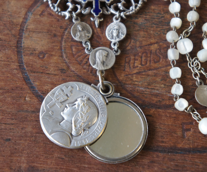 Joan of Arc mirror locket