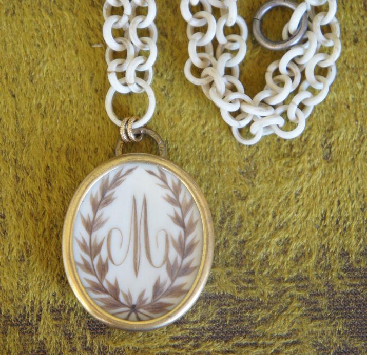 Monogram Locket Necklace