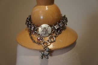 A selection of assemblage bracelets