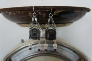 Earrings with Paris souvenirs
