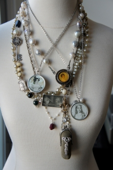 A selection of necklace