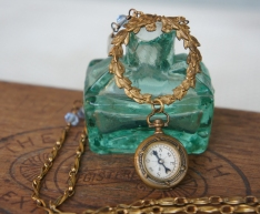 Necklace with small compass Fob